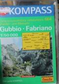 Gubbio-Fabriano. Carta escursionistica, cicloturistica (scala 1:50.000)