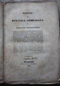 Lezioni di Botanica comparata di Filippo Parlatore