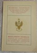 REGOLAMENTO GENERALE approvato dal Supremo Consiglio il 19 dicembre 1949 e promulgato dal Sovrano Gran Commendatore il 1° maggio 1950 A. D.