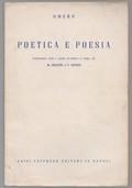 Poetica e poesia. Antologia per i licei classici a cura di Marcello Gigante e Fabio Bonino
