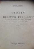 Storia del Diritto Italiano le fonti del diritto nell'epoca bolognese i civilisti fino a Rogerio  vbolume IV parte prima