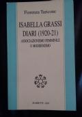 Isabella Grassi Diari (1920-21) Associazionismo Femminile e Modernismo
