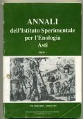 ANNALI DELL'ISTITUTO SPERIMENTALE PER L'ENOLOGIA ASTI. VOL. XXII (1991). PARTE I