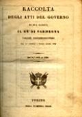 RACCOLTA DEGLI ATTI DEL GOVERNO DI SUA MAESTÀ IL RE DI SARDEGNA, vol. XXII (gennaio-giugno 1854)