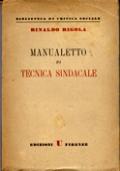 MANUALETTO DI TECNICA SINDACALE