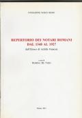 Repertorio dei notari romani dal 1348 al 1927 dall'Elenco di Achille Francois