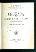 Cronaca del soggiorno di Carlo V in Italia. (dal 26 luglio 1529 al 25 aprile 1530).