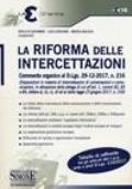 LEX16 LA RIFORMA DELLE INTERCETTAZIONI