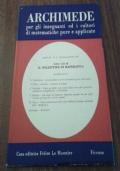 Archimede per gli insegnanti ed i cultori di matematiche pure e applicate n° 1-2 gennaio/aprile 1964