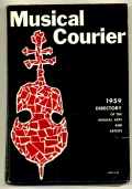 MUSICAL COURIER. DIRECTORY OF THE MUSICAL ARTS AND ARTISTS 1959