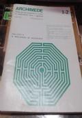 Archimede rivista per gli insegnanti ed i cultori di matematiche pure e applicate n° 1-2 gennaio/giugno 1983