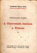 L'UNIVERSITà ITALIANA A TRIESTE