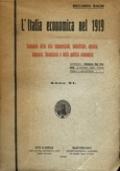 L'ITALIA ECONOMICA NEL 1919. ANNUARIO DELLA VITA COMMERCIALE, INDUSTRIALE, AGRARIA, BANCARIA, FINANZIARIA E DELLA POLITICA ECONOMICA