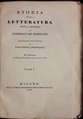 Storia della letteratura antica e moderna.