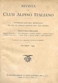 RIVISTA MENSILE DEL CAI  ANNATA 1925