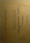 Libretto di canti patriottici per balilla e avanguardisti