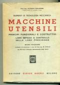 A. GALASSINI - INGEGNERIA MECCANICA : MACCHINE UTENSILI PRINCIPI FUNZIONALI E COSTRUTTIVI