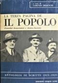 La terza pagina de Il Popolo (cattolici democratici e clerico-fascisti) Antologia di scritti 1923-1925
