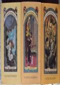 Lotto Lemony Snicket 3 5 7 libri ragazzi fantasy La funesta finestra L'atroce accademia Il vile villaggio
