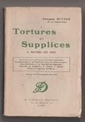 Tortures et supplices a travers les ages