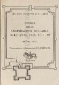 Storia delle cospirazioni settarie dall'anno 1816 al 1822: Modena 1831