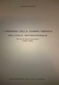 I PRIMORDI DELLA STAMPA EBRAICA NELL'ITALIA SETTENTRIONALE Piove di Sacco-Soncino (1469-1496)
