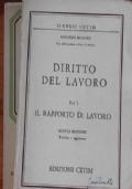 DIRITTO DEL LAVORO - 2 Volumi
