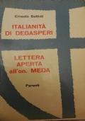 Italianità di De Gasperi lettera aperta all'onorevole Meda