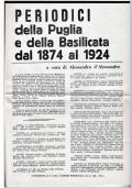 PERIODICI DELLA PUGLIA E DELLA BASILICATA DAL 1874 AL 1924