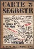 Carte Segrete 3 - Rivista trimestrale di lettere e arti - luglio settembre 1967.