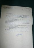 LETTERA DATTILOSCRITTA CON FIRMA AUTOGRAFA DEL DOTTOR CARLO MARZORATI EDITORE 1956