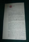 LETTERA DATTILOSCRITTA CON FIRMA AUTOGRAFA DEL PROF. MARIO BENDISCIOLI STORICO MILANO 1958