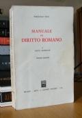 MANUALE DI DIRITTO ROMANO I Parte Generale Seconda edizione