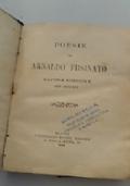 Poesie  di Arnaldo Fusinato - ultima edizione con aggiunte
