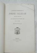 Josephi Callegari Episcopi Tarvisini EPISTOLA MDCCCLXXX (1880)