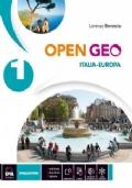 OPEN GEO VOL 1 ITALIA EUROPA + EBOOK +REGIONI D'ITALIA + ATLANTE GEO-STORIA + CITTADINANZA E COSTITUZIONE