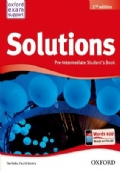 Solutions Pre-Intermediate Student's Book + Solutions Pre-Intermediate Workbook with audio CD. Second edition.