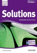 Solutions Intermediate Student's Book + Solutions Intermediate Workbook with audio CD. Second edition.