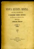 NUOVA RIVISTA MISENA - periodico Marchigiano di erudizione storico-artistica di letteratura e d�interessi locali ANNO V  1892