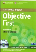 CAMBRIDGE ENGLISH - OBJECTIVE FIRST - WORKBOOK - WITHOUT ANSWERS - B2