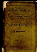 LA MESSIADE POEMA DI F. A. KLOPSTOCK versione di G. B. CERESETO - VOLUME UNICO