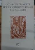 Occasione mancata per un notomista pisano del Seicento (libretto di mal'aria 321)
