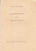 La interpretazione del Corpus Iuris