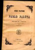 OPERE POLITICHE DI PAOLO PARUTA precedute da un DISCORSO DI C. MONZANI re dallo stesso ordinate e annotate - volume primo