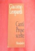 GIACOMO LEOPARDI-CANTI PROSE SCELTE-MONDADORI-1937