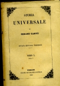 STORIA UNIVERSALE TOMO X PARTE I