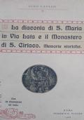 La diaconia di Santa Maria in via Lata e il monastero di San Ciriaco memorie storiche