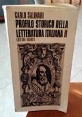 PROFILO STORICO DELLA LETTERATURA ITALIANA