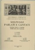 SOLFEGGI PARLATI E CANTATI - 1° CORSO - PARTE PRIMA