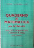 quaderno di matematica per la maturità ++ CON SPEDIZIONE PIEGO LIBRI GRATUITA
